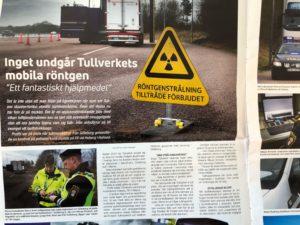 Tidningsartikel om Tullens mobila scanners